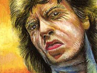 Illustration work: Mick Jagger (oil pastel on paper)